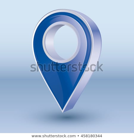 3d map pointer. Navigator symbol isolated on gray background. Vector illustration Stock photo © olehsvetiukha