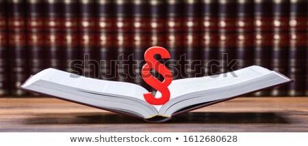 Parágrafo abrir lei livro Foto stock © AndreyPopov