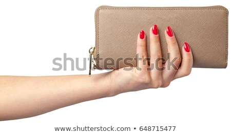 close up of woman hands with wallet and us money Stock photo © dolgachov