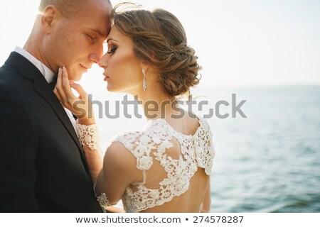 свадьба любителей гор морем небе цветок Сток-фото © ElenaBatkova