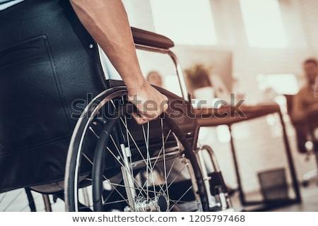 Сток-фото: бизнесмен · сидят · коляске · служба · человека