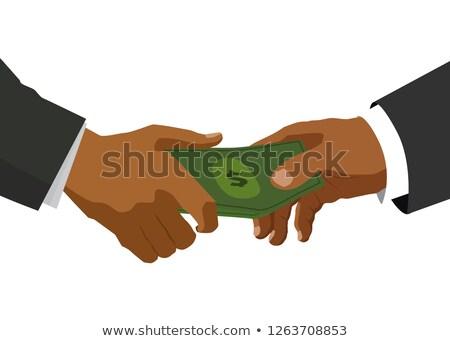 2 黒 手 合格 お金 実例 ストックフォト © evgeny89