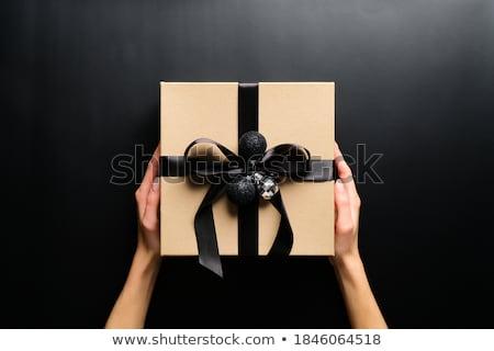 Kadın hediye güzel bir kadın yalıtılmış beyaz Stok fotoğraf © iko