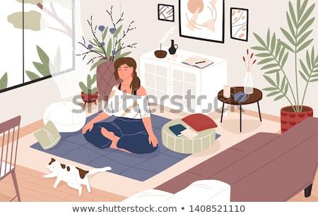 Vrouw gesloten positie lichaamstaal man lichaam Stockfoto © izakowski
