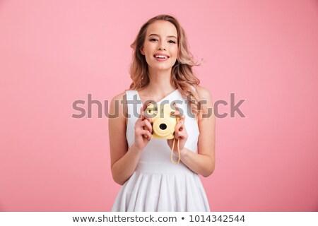 Beautiful caucasian girl stock photo © aremafoto
