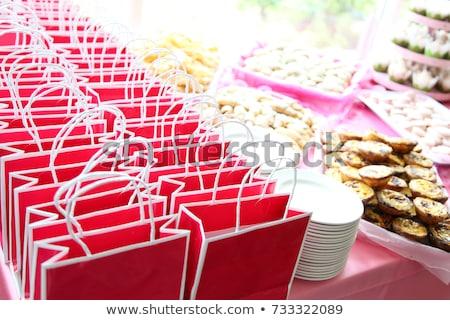 Buli esküvő szatyrok copy space címkék kártya Stock fotó © godfer