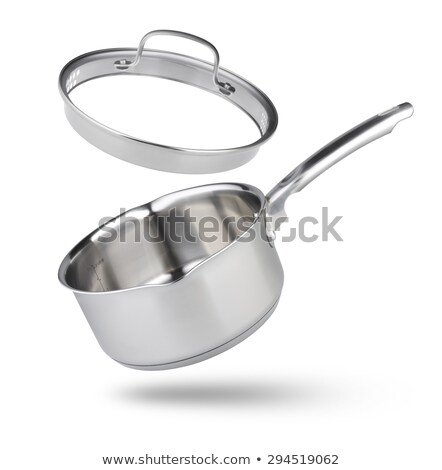 Inoxidable pan aislado blanco alimentos cocina Foto stock © shutswis