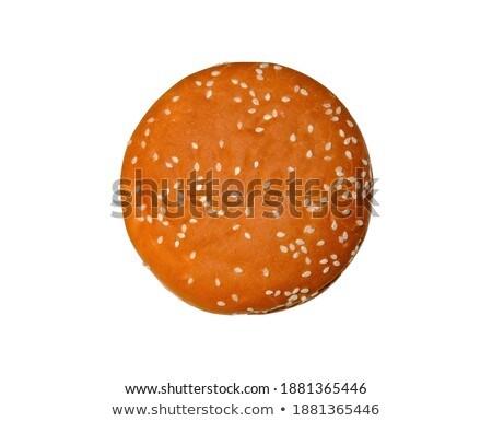 étvágygerjesztő zsemle szezám izolált fehér háttér Stock fotó © shutswis