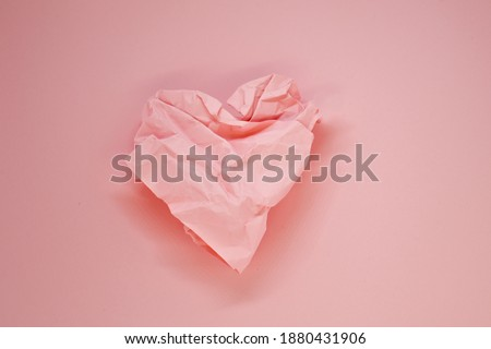 Crumpled heart Stock photo © timbrk