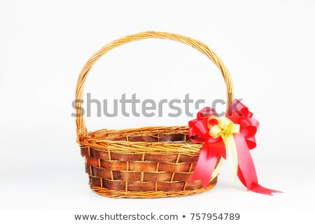 Brown Wicker Basket with Red Ribbon Stock photo © gubh83