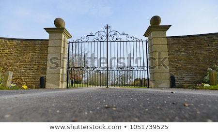 beautiful metallic lock gate stock photo © pixachi