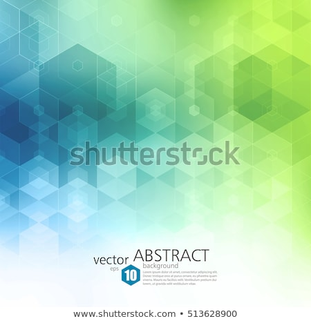 green blue background with lights and lines Stock photo © marinini