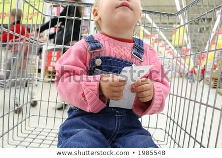 baby hold check in shopingcart Stock photo © Paha_L