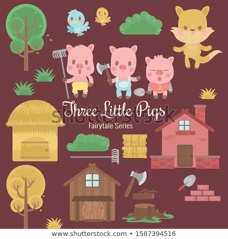 casas · brinquedo · de · madeira · blocos · construção · criança · casa - foto stock © paha_l