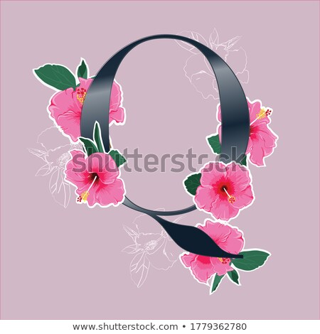 Letter Q watercolor on vintage paper Stock photo © tungphoto