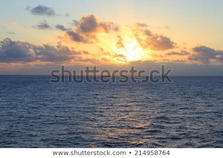 Pacific ocean at sunset Stock photo © iofoto
