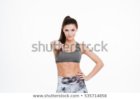 aerobik · fitness · woman · işaret · aerobik · enerjik - stok fotoğraf © stockyimages