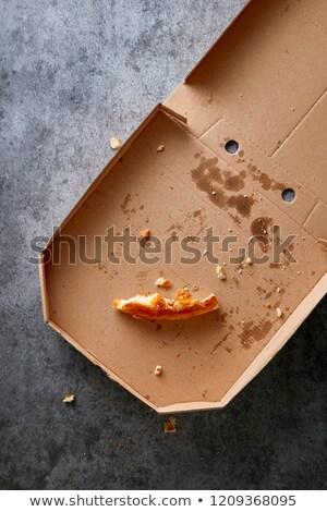 pizza · primo · piano · bianco · piatto · pranzo · veloce - foto d'archivio © saddako2