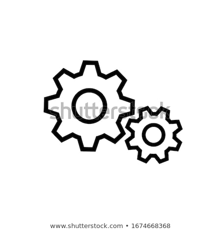 cogwheel gear icon on digital background stock photo © tashatuvango