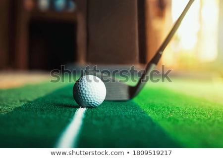Golfe prática homem alcance campo de golfe Foto stock © franky242