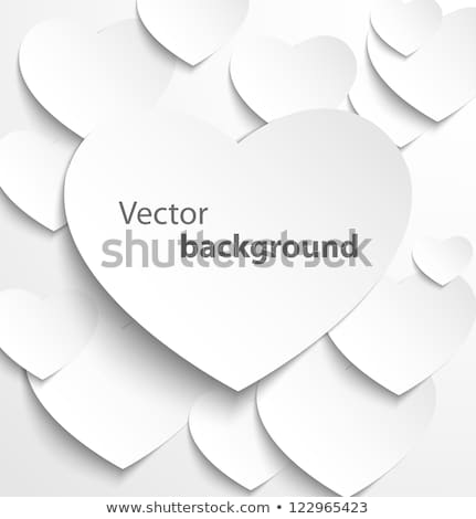 Carta cuore banner drop ombre amore Foto d'archivio © oly5