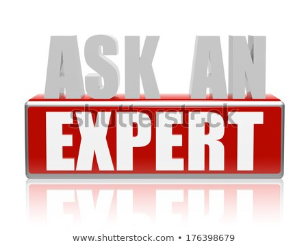 ask an expert in 3d letters and block Stock photo © marinini