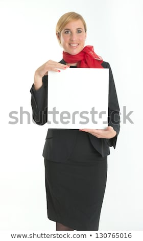 Woman stewardess with blank board Stock photo © Elnur
