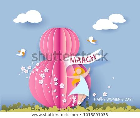 Wektora projektu dzień kobiet kartkę z życzeniami kolorowy Zdjęcia stock © bharat