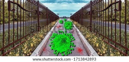 zöld · fű · kék · ég · klasszikus · retró · stílus · szépség · tájkép - stock fotó © mikko