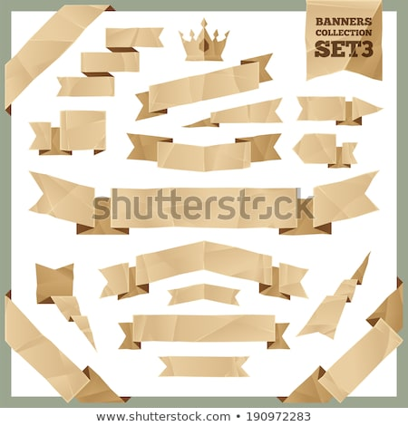 Crumpled Paper Ribbons Banners Collection Set3 Stock photo © Voysla