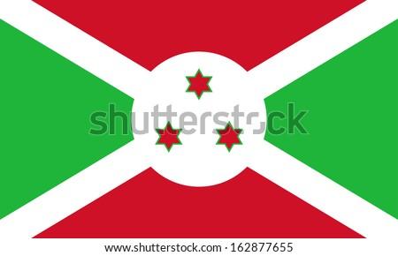 bandeira · Burundi · isolado · branco - foto stock © creisinger