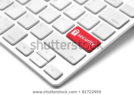 Foto stock: Protección · rojo · teclado · botón · negro