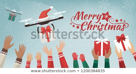 Drone Holiday Delivery Stock photo © Lightsource