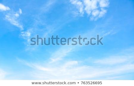 Gyönyörű nappal égbolt felhők fehér absztrakt Stock fotó © pzaxe