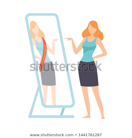 cartoon smug woman Stock photo © lineartestpilot