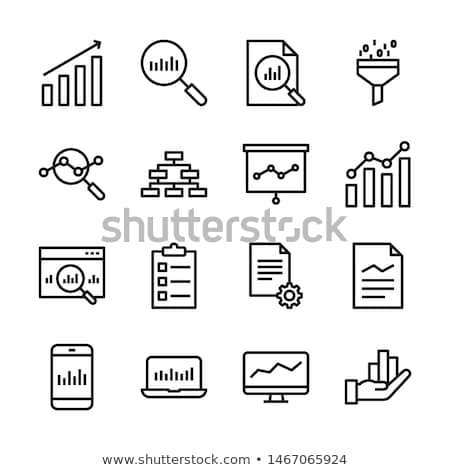 business management and data analytics icon set stock photo © robuart