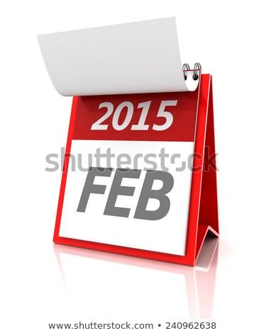2015 February Calendar 3d Render Stok fotoğraf © ymgerman