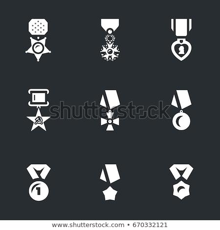 medal purple vector icon design stock photo © rizwanali3d