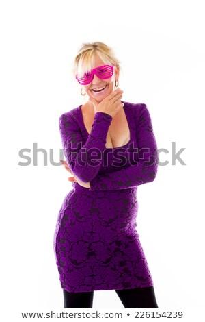 Loiro mulher noite vestido senhora Foto stock © konradbak