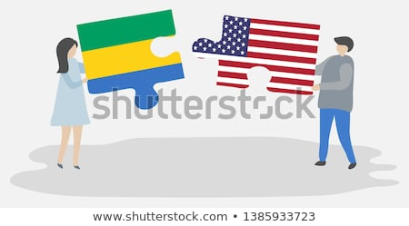 USA and Gabon Flags in puzzle  Stock photo © Istanbul2009