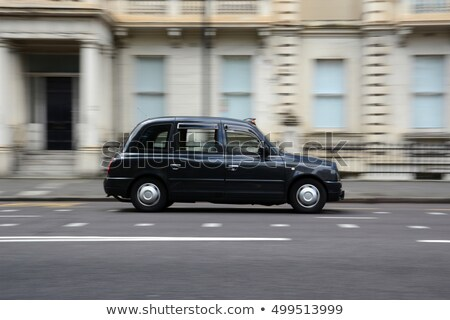 Famous black cab on a street in London Stock photo © AndreyKr