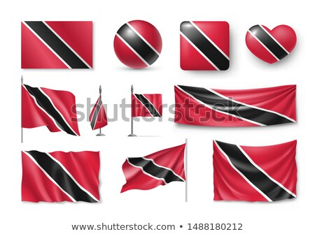 Heart shaped icon with flag of trinidad and tobago Stock photo © MikhailMishchenko