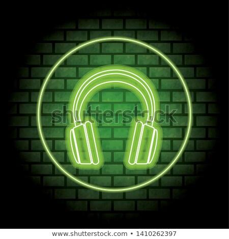 голову · телефон · зеленый · вектора · икона · дизайна - Сток-фото © rizwanali3d