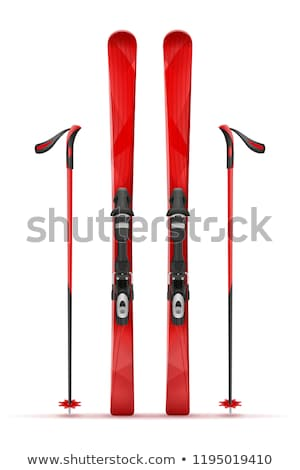 Skis isolated on white Stock photo © michaklootwijk