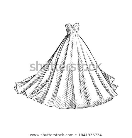 Ilustração branco vestido de noiva textura corpo projeto Foto stock © gigi_linquiet