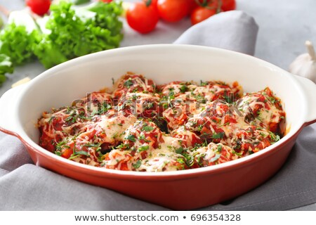 Meatballs in a casserole dish Stock photo © Digifoodstock