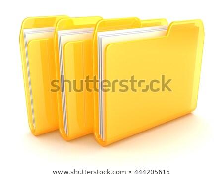 citromsárga · számítógép · mappa · posta · fehér · izolált - stock fotó © andreasberheide