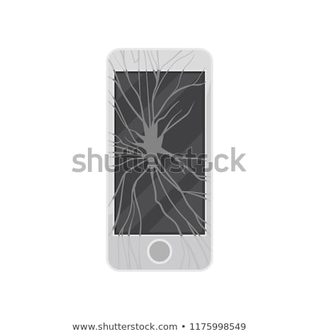 Stock photo: Vector of smartphones recycling with broken screen