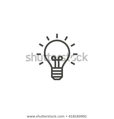 Buttons with lightbulbs Stock photo © bluering
