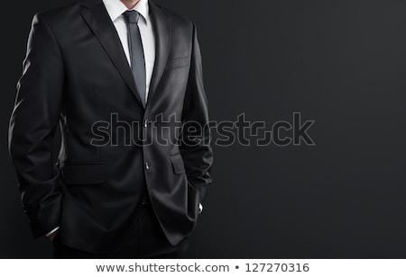man · zwart · pak · witte · steeg · knoopsgat · bruiloft - stockfoto © carenas1